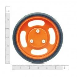 60x11 mm Turuncu Renk Geçmeli Tekerlek Seti - Thumbnail
