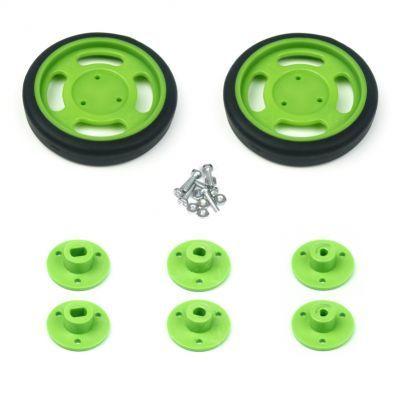 60x11 mm Yeşil Renk Geçmeli Tekerlek Seti
