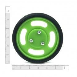 60x11 mm Yeşil Renk Geçmeli Tekerlek Seti - Thumbnail