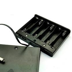 Robotistan - 6'lı AA Pil Yuvası (Kapaklı ve Switchli)