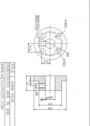 6 mm Alüminyum Göbek - 48 mm Omni Tekerlek için, 18022 - Thumbnail