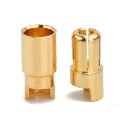 China - 6mm Banana Battery Connector Bare Metal (Male-Female single pair)