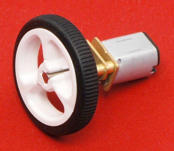 6 V 1000 RPM Karbon Fırçalı Redüktörlü Mikro DC Motor