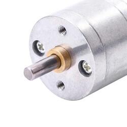 6V 25mm 130 RPM Redüktörlü DC Motor - Thumbnail