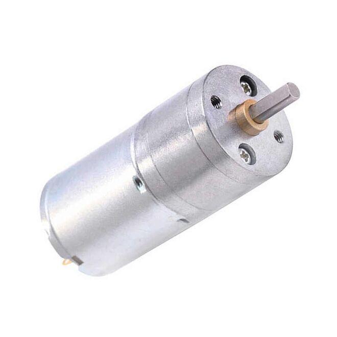 6V 25mm 60 RPM Redüktörlü DC Motor
