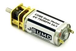 6V 750 RPM Jsumo Core DC Motor - Yüksek Torklu - Thumbnail