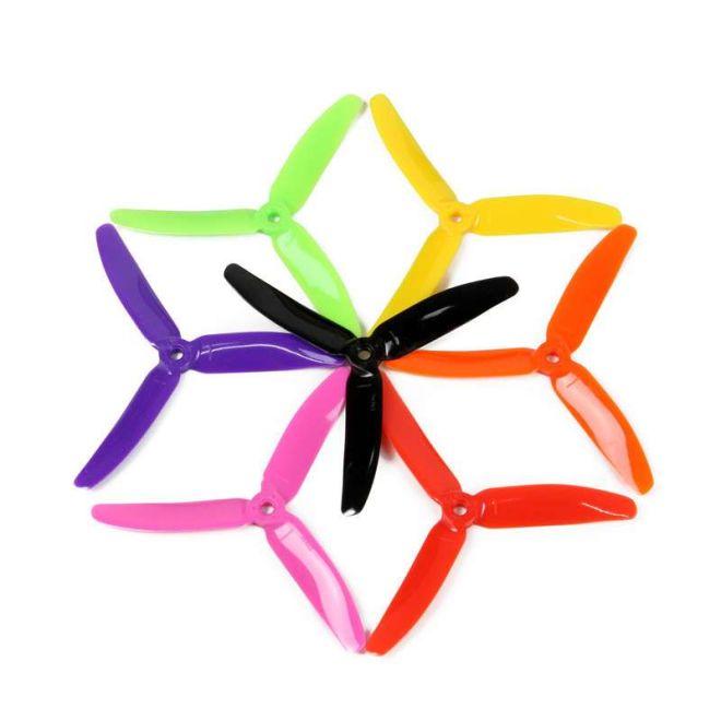 7 Çift 5045 3 Bıçaklı Yarış Dronu Pervanesi - Karışık Renk