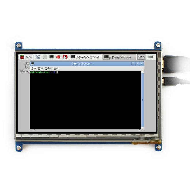 "7"" HDMI Capacitive LCD Touch Display - 800x480"