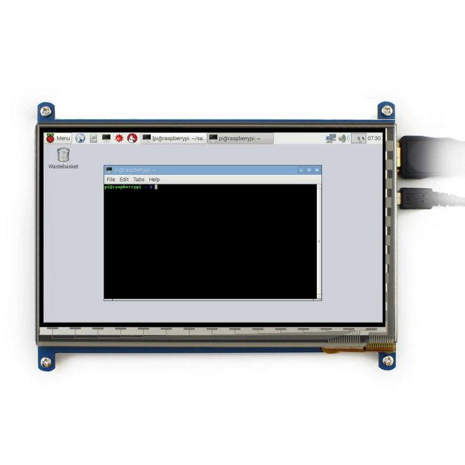 WaveShare 7 Inch HDMI Kapasitif Dokunmatik LCD Ekran - 1024x600 (C)