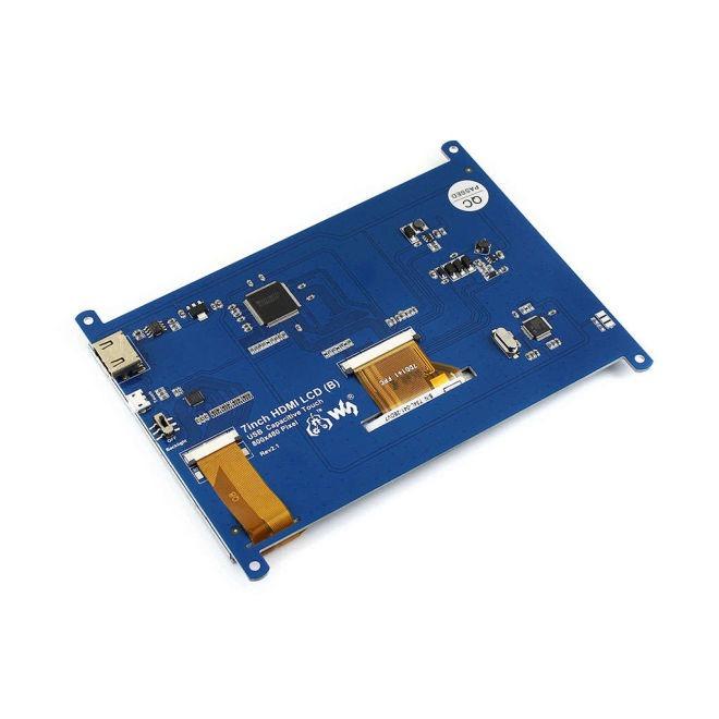 WaveShare 7 Inch HDMI Kapasitif Dokunmatik LCD Ekran - 800x480 (B)