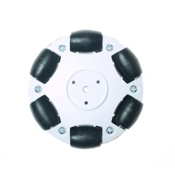 Robotistan - 70mm Plastic Omni Wheel - White