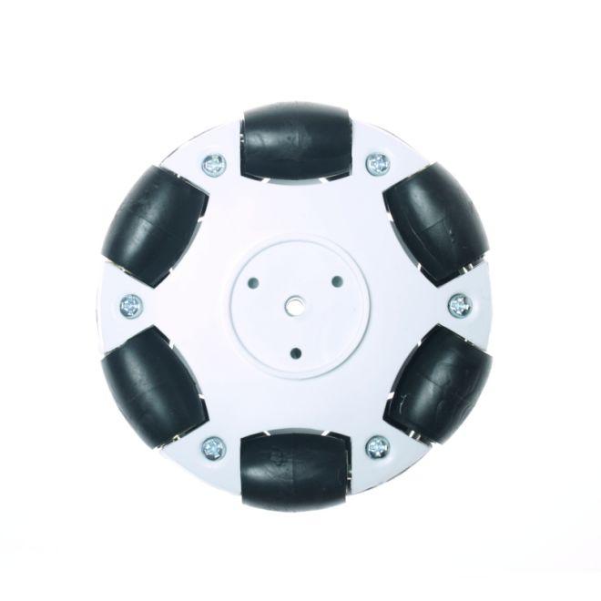 70mm Plastic Omni Wheel - White