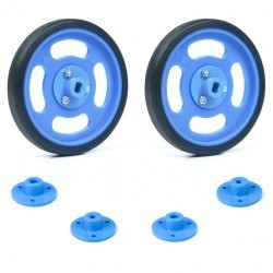 Robotistan - 70x11mm Blue Wheel Set