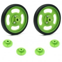 Robotistan - 70x11mm Green Wheel Set
