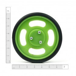 70x11mm Green Wheel Set - Thumbnail
