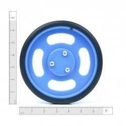 70x11 mm Mavi Renk Geçmeli Tekerlek Seti - Thumbnail