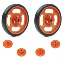 Robotistan - 70x11mm Orange Wheel Set