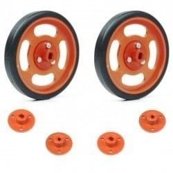 Robotistan - 70x11mm Orange Wheel Set