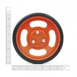 70x11 mm Turuncu Renk Geçmeli Tekerlek Seti - Thumbnail
