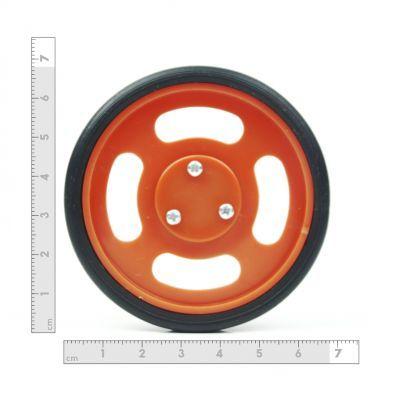 70x11 mm Turuncu Renk Geçmeli Tekerlek Seti