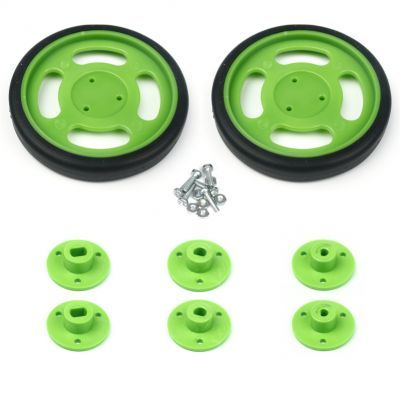 70x11 mm Yeşil Renk Geçmeli Tekerlek Seti