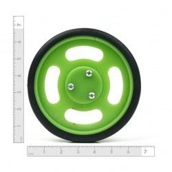 70x11 mm Yeşil Renk Geçmeli Tekerlek Seti - Thumbnail
