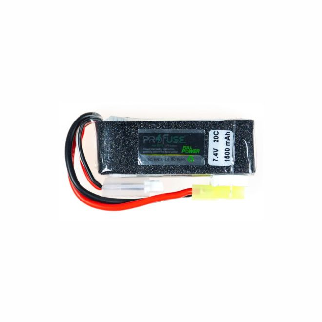 7,4V Airsoft Lipo Batarya 1500mAh 20C - (16x25x67)