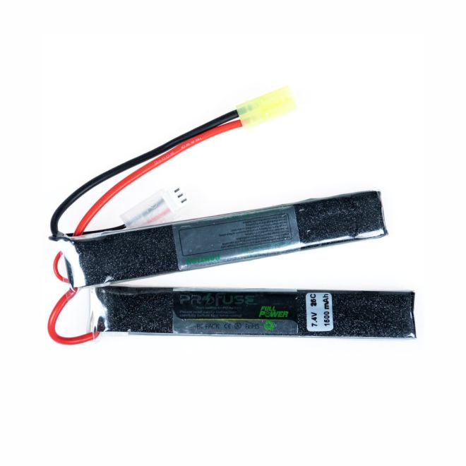 Full Power - 7,4V 2S Airsoft Lipo Batarya 1500mAh 25C - (6x20x128x2) (1)