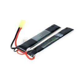 7,4V 2S Airsoft Lipo Batarya-Pil 1500mAh 25C - (6x20x128x2) - Thumbnail