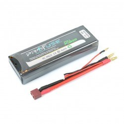 7,4V Lipo Battery 4000mAh 25C - Hardcase - Thumbnail