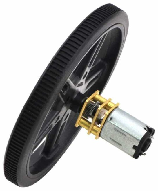 75:1 12 V 400 RPM Karbon Fırçalı Mikro Metal DC Motor