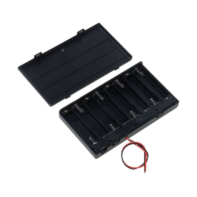 8-AA Battery Housing(Covered and Switched)