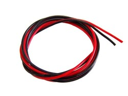 China - 8 AWG 1 Metre Siyah ve Kırmızı Silikon Kablo
