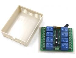 Robotistan - 8 Kanal 433 MHz Kablosuz RF Alıcılı Röle Kartı - Kutulu