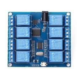 8 Kanal 5 V Seri Haberleşme Kontrollü Röle Kartı (Mikro USB & Pin) - Thumbnail