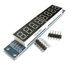 China - 8 Karakter 7 Segment SPI Display