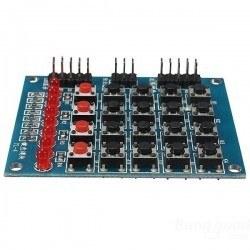 Robotistan - 8 Led'li 4x4 Keypad Modül - Tuş Takımı Modül