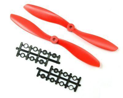8045 Kırmızı Plastik CW/CCW Pervane Seti