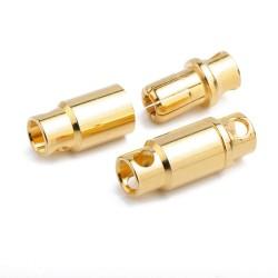 8mm Banana Battery Connector Bare Metal (Male-Female single pair) - Thumbnail