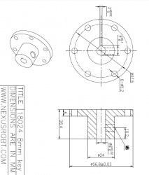 8mm Key Hub 18024 - Thumbnail