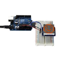 8x8 1.2 Inch I2C Bağlantılı Led Matris (Parlak Turuncu) - Thumbnail