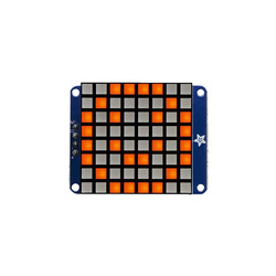 "Adafruit - 8x8 1.2"" I2C LED Matrix (Bright Orange)"