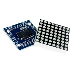 Robotistan - 8x8 Dot Matrix Kartı - Peşpeşe Takılabilir, MAX7219