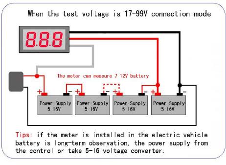 dijital panel voltmetre dc 0-100 v örnek uygulama 2