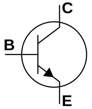 npn transistör sembolü