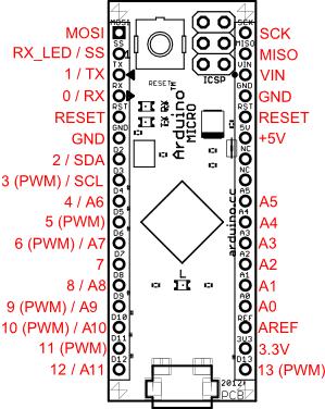 Arduino Micro Pinleri