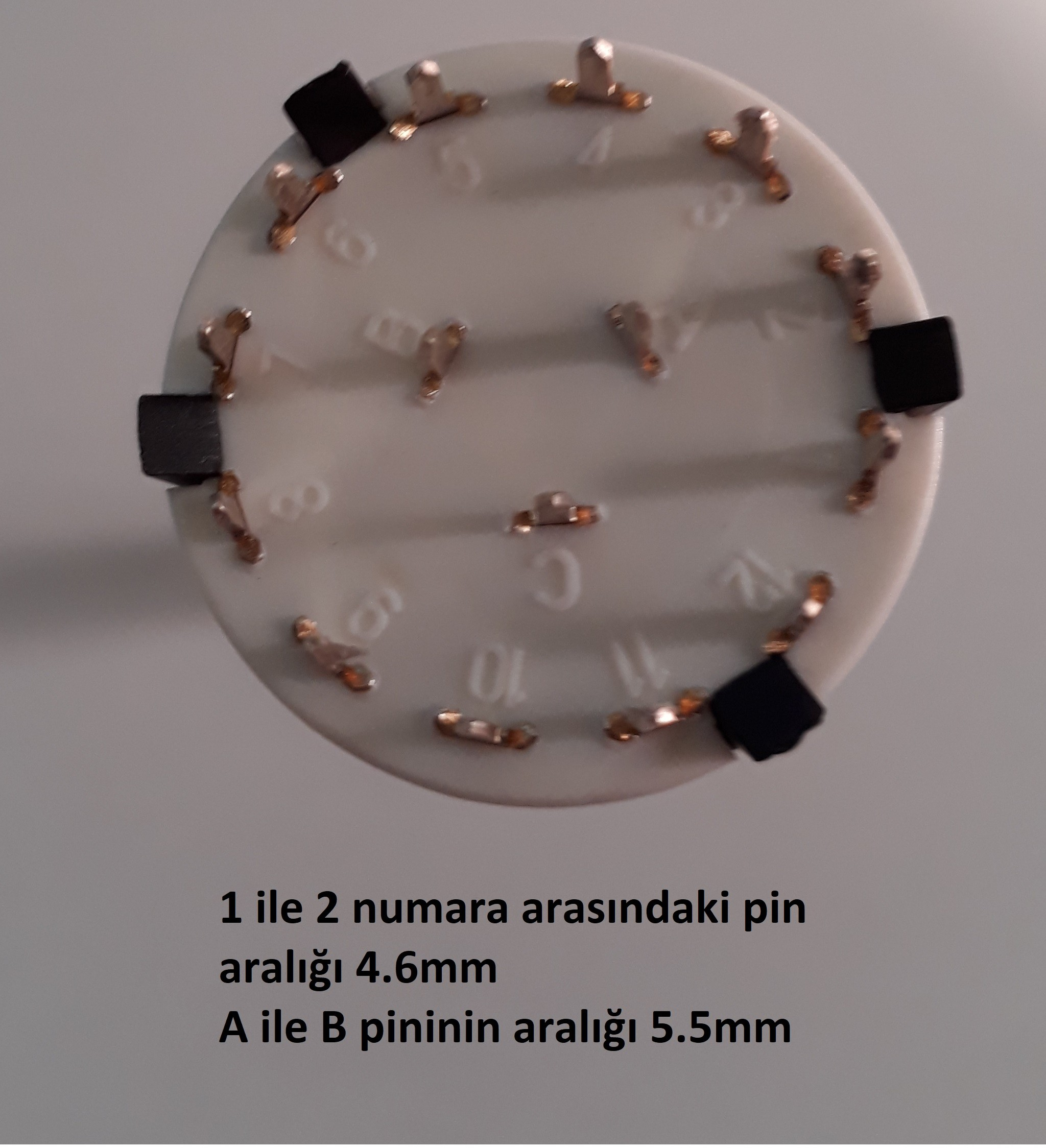 komütatör 3x4 kademeli potansiyometre pin aralığı