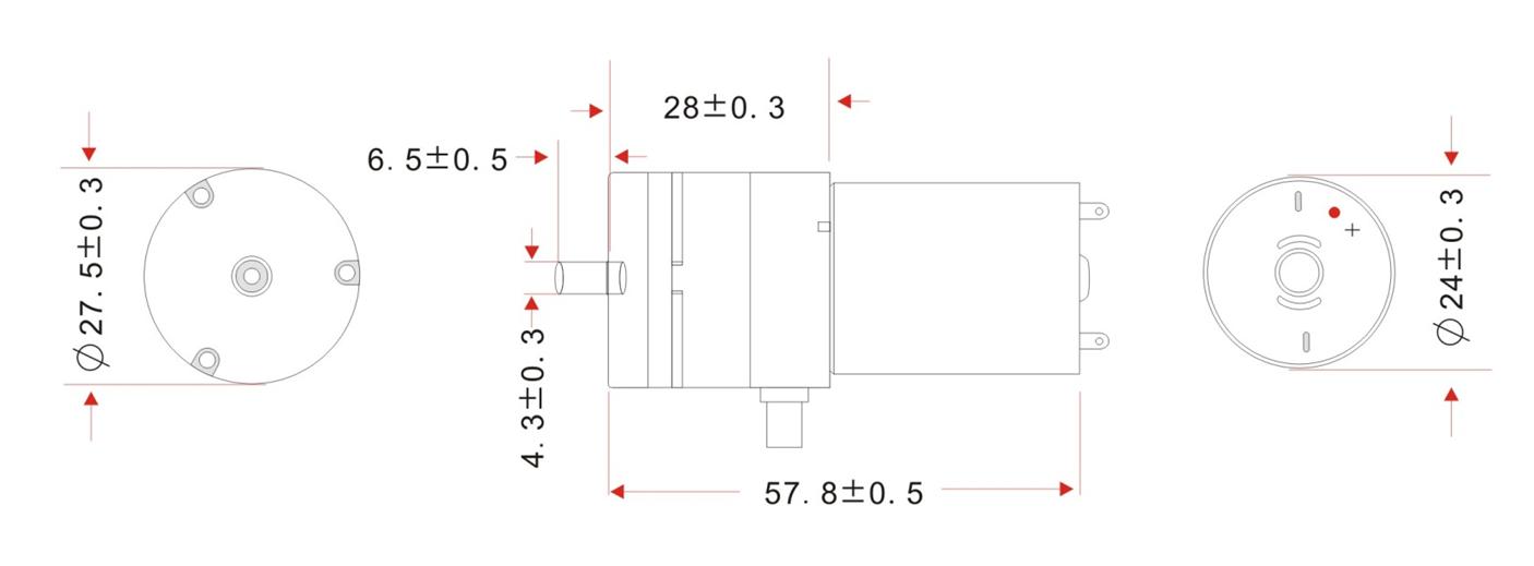 makeblock hava pompası - dc 12 v / 370-02pm boyutları