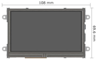 4d systems armadillo-43t dahili dokunmatik ekranlı bilgisayar boyutları