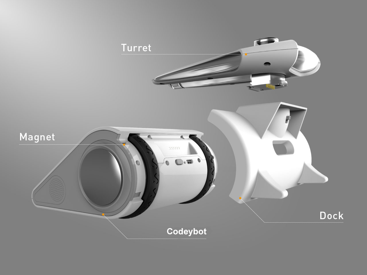 makeblock codeybot ve led lazer başlık parçaları